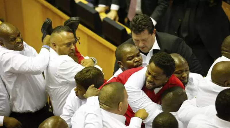 Fist Fight in Parliament