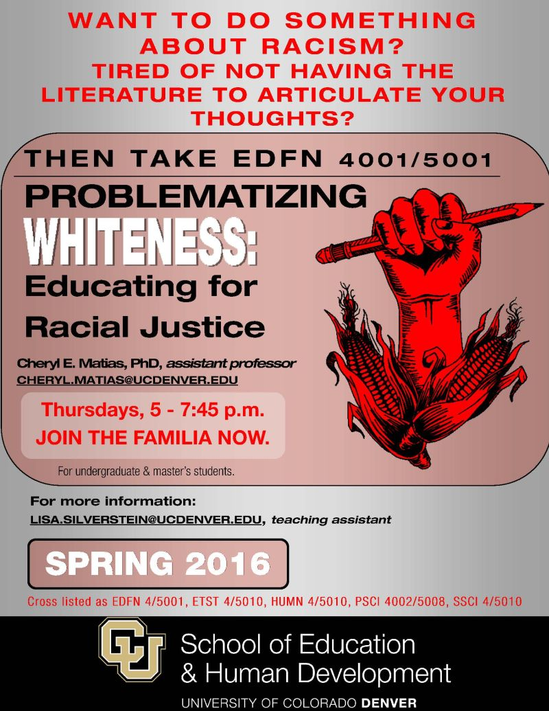 'Problematizing' Whiteness