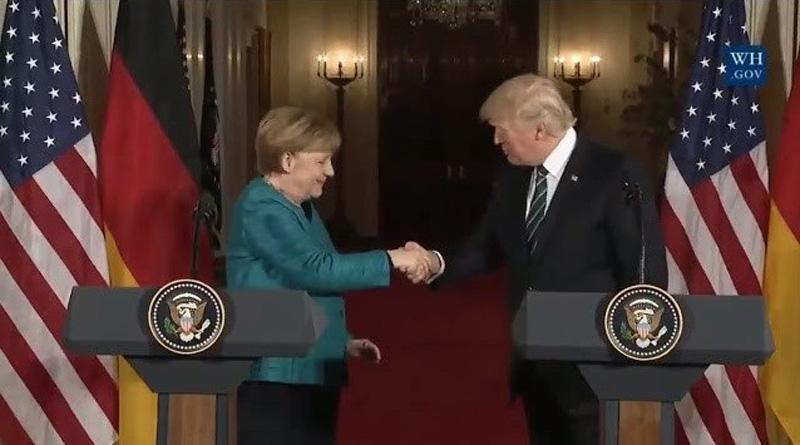 Merkel - Trump Handshake