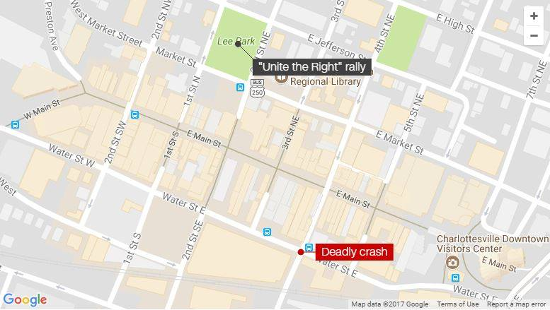 Unite The Right Map
