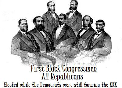 First Black Congressmen White Democrats were forming the KKK