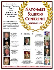 Nationalist Solutions Conference 2019