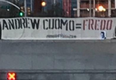 """Cuomo = Fredo"" Far-right Banners Found on NYC Bridges, Tunnels"