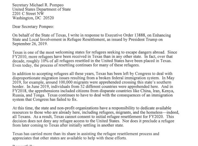 Abbot Refugee LetterAbbot Refugee Letter